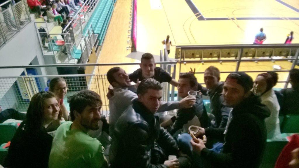 les étudiants BPJEPS APT au match de volley ASPTT Mulhouse vs Le Cannet samedi 20 février 2016
